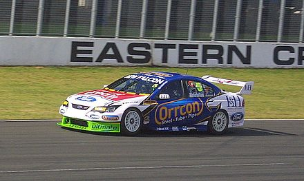 Ford Performance Racing Ford Falcon V8 Supercar at Eastern Creek in Australia in 2008 Winterbottom2008.jpg