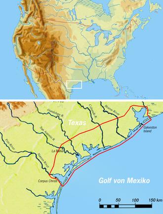 Karankawa people - Karankawa territory