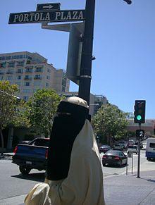 In america niqab Muslim Face