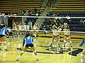 Women's volleyball, SJSU at Cal 2009-09-12 2.JPG