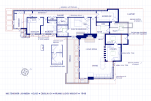 Weltzheimer/Johnson House - floor plan