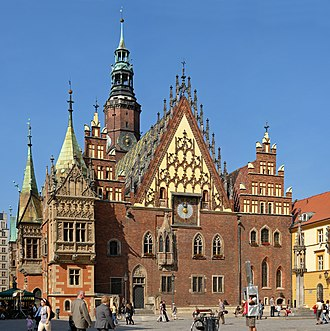 Wrocław Town Hall - Old Town Hall, east elevation
