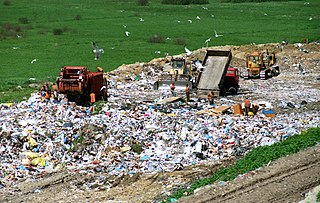 Landfill site for the disposal of waste materials by burial