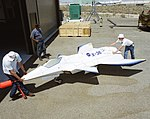X-36 Tailless Fighter Agility Research Aircraft arrival at Dryden DVIDS698300.jpg