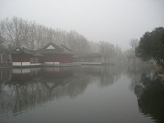 Xiangyang - A foggy day at a Xiangyang Park