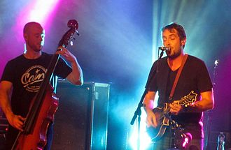 Yonder Mountain String Band - Ben Kaufmann, left, and Jeff Austin at Soundstage in Baltimore, 2012.