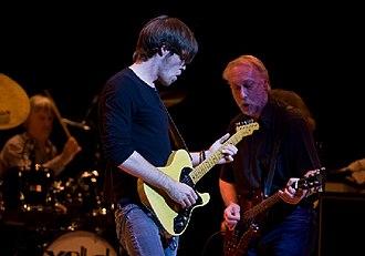 Ben King (guitarist) - King playing alongside Chris Dreja in Basingstoke, England in September 2008