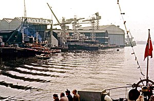 Yarrow Shipbuilders - June 1979 Polish ships under construction.