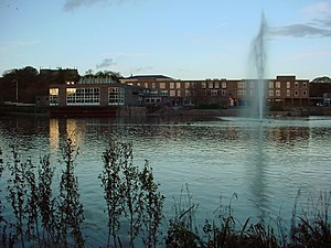 Consortium of Local Authorities Special Programme - Image: York Uni Vanbrugh College Across Lake