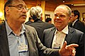 Yossi Vardi, Israeli venture capitalist and Don Tapscott.jpg
