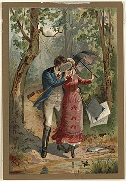 Young Couple in the Woods by Boston Public Library