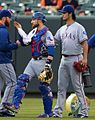 Yu Darvish and Jonathan Lucroy on August 2, 2016.jpg