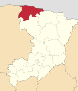 Location of Zaričnes rajons