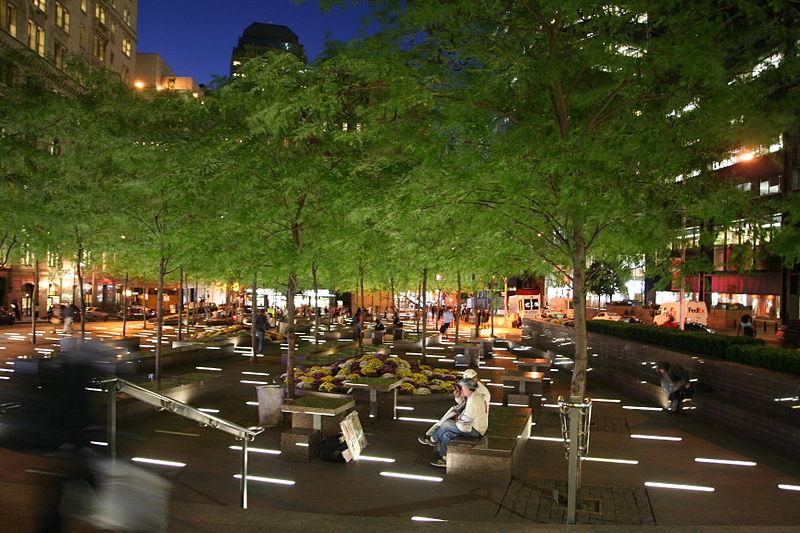 File:Zuccotti Park at night October 2014.JPG