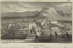 Zuni Pueblo, 1850 illustration