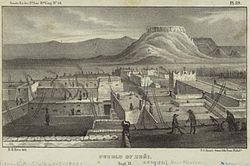 Zuni Pueblo, 1850 illustration