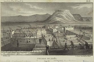 Zuni Pueblo, New Mexico - Zuni Pueblo, 1850 illustration