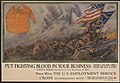 """Put fighting blood in your business Here's his record! Does he get a job!"" -Arthur Woods, Assistant to the Secretary of War - - Dan Smith. LCCN00652156.jpg"