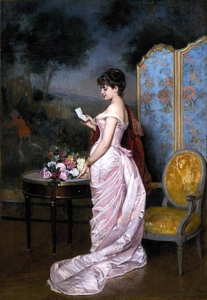"Auguste Toulmouche - Image: ""The Love Letter"" by Auguste Toulmouche"