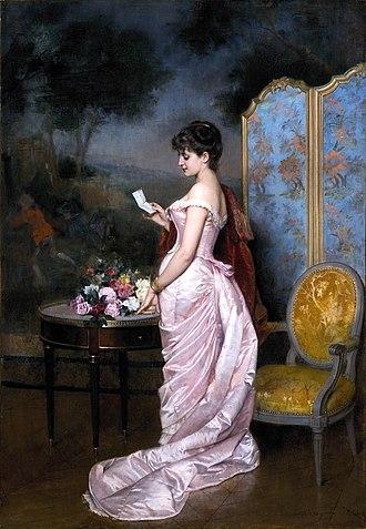 "Auguste Toulmouche - Image: ""The Love Letter"" by Auguste Toulmouche"