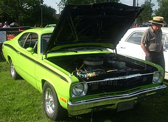 Plymouth Duster - 1974 Plymouth Duster, with non-OEM wheels, tires, and air cleaner
