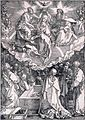 'Coronation of the Virgin', woodcut by Albrecht Dürer, 1510, Honolulu Academy of Arts.jpg
