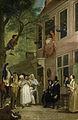 'De misleyden'; de ambassadeur der Labberlotten vertoont zich voor het venster van de herberg 't Bokki in de Haarlemmerhout Rijksmuseum SK-A-4089.jpeg