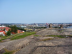 Keillers Park murder - View over Göteborg from the heights of Keillers Park.