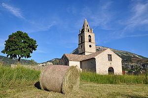 Tartonne - The church in Tartonne