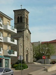 The church in Saint-Priest-en-Jarez