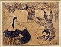Émile bernard, donna che stende il buicato, zincografia con guache e acquerello, 1889.jpg