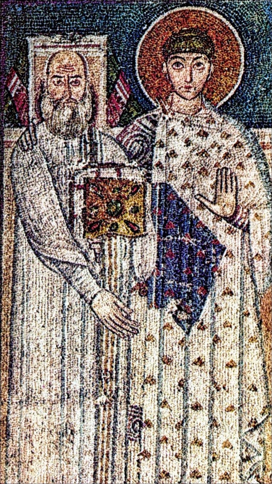 Άγιος Δημήτριος Άγιος Δημήτριος Θεσσαλονίκης. Ψηφιδωτό 7ου αιώνα