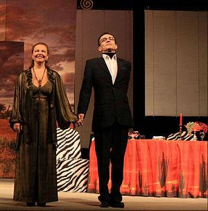 Andrey Kharitonov - Tatiana Abramova and Andrey Kharitonov at Severodvinsk Drama Theatre, February 24, 2010
