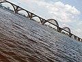 Вид з острову. Пляж на Комсомольському острові. Парк Шевченка.JPG