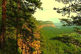 Shelekhovsky District - Shaman Rock (cliff), Shelokhovsky District