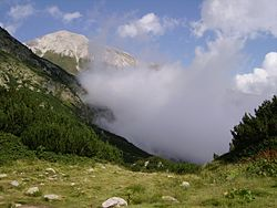 low clouds in a mountain