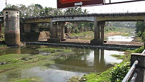 Meenachil River - A bridge crossing the river
