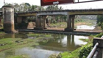 Meenachil River - A bridge crossing the river