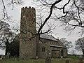 -2018-12-15 Round bell tower of Saint Margarets parish church, Witton, Norfolk.JPG