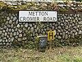 -2020-06-09 Street name sign, Cromer Road, Metton, Norfolk.JPG