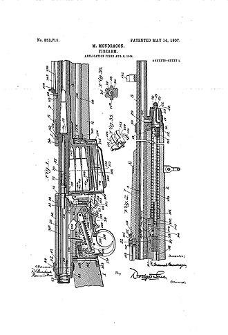 Mondragón rifle - Image: 001 mondragon patent rifle