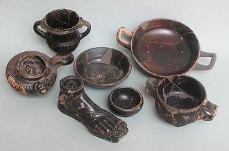 Puntal dels Llops - Imported Black Gloss ceramic found at Puntal dels Llops