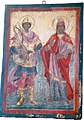 02 Saint Mercurius and Saint Catherine Icon in Assumption of Mary Church in Agios Vasileios.jpg