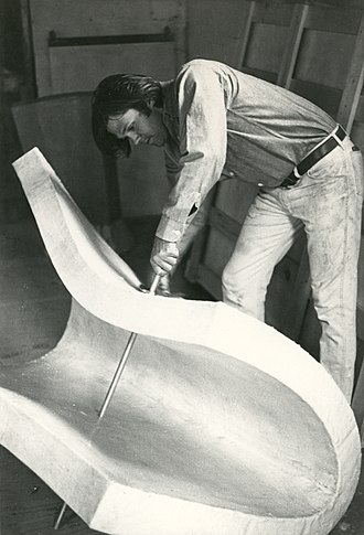Gary Kuehn - Gary Kuehn, studio view with Mattress Piece, 1969