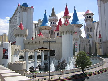The Excalibur hotel.