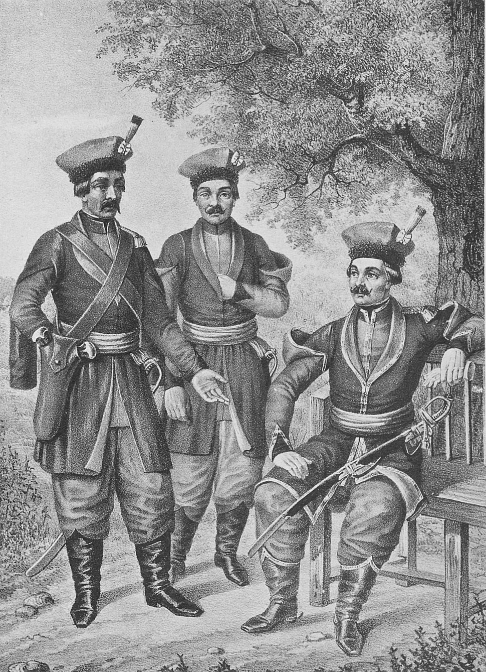 05 683 Book illustrations of Historical description of the clothes and weapons of Russian troops