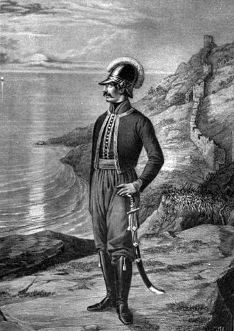 Greek Battalion of Balaklava - Officer of the Greek Battalion of Balaklava
