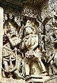 12th-century musicians with music instruments vadya at Shaivism Hindu temple Hoysaleswara arts Halebidu Karnataka India.jpg