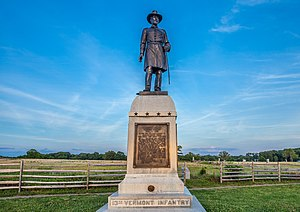 Stephen F. Brown - 13th Vermont Infantry monument at Gettysburg.