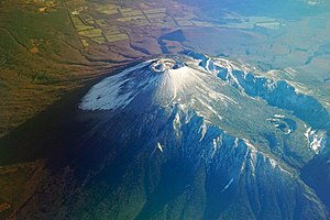 Mount Iwate - Aerial photographs of Mount Iwate from the NNW